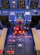 Постер, плакат: Throttle and control panel Flight Simulator