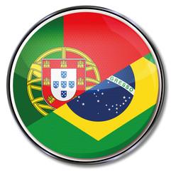 Button mit Übersetzung in portugiesisch und brasilianisch