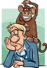 monkey on your back cartoon