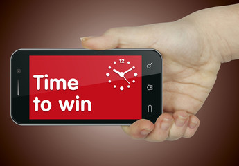 Time to win. Phone