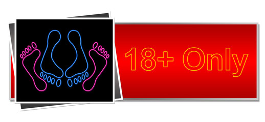 18 Only Red Black Neon