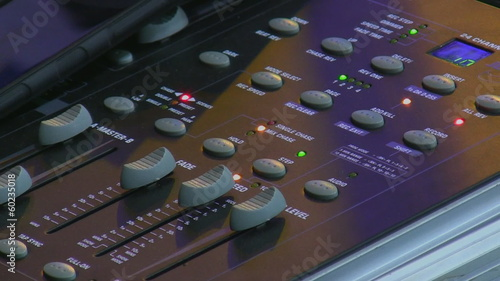 Stage light control panel on live concert