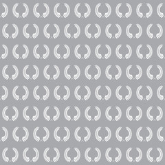 Laurel wreath in seamless pattern . Vector