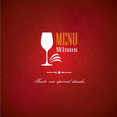 Wine menu cover design for restaurants