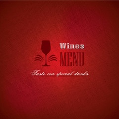 Wine menu for restaurants and bars