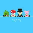 Cloverleaf, Fly Agaric, Chimney Sweeper & Pig Gifts Blue