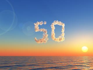 wolkige fünfzig