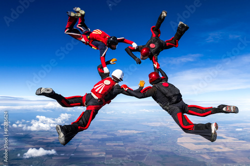 Foto op Plexiglas Luchtsport Skydiving photo.