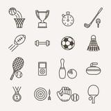 set of monochrome sport icons