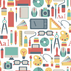 seamless pattern with graphic design icons