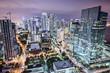 Miami, Florida, USA Downtown Aerial View