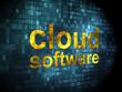 Cloud computing concept: Cloud Software on digital background