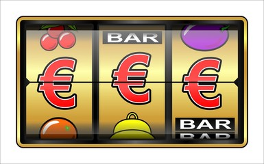 Casino, jeu machine à sous, €