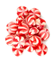 striped jelly candies isolated on white