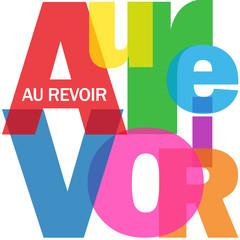 """Mosaïque de Lettres """"AU REVOIR"""" (adieux bon voyage bonne chance)"""