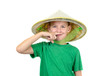 Boy in asian hat