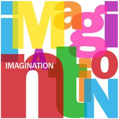 Mosaïque de Lettres IMAGINATION (créativité esprit réflexion)