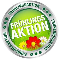 """Button """"Frühlingsaktion"""" grün/rot/silber"""