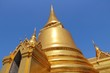 Bangkok - Temple of Emerald Buddha gold chedi