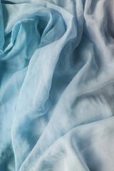 Blue chiffon