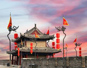 Fortifications of Xian (Sian, Xi'an) an ancient capital of China