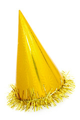 Golden party hat cone
