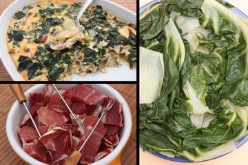 Blettes cuisinées au Jambon - Gratin