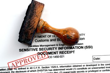 Sensitive security document