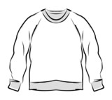 Abstract sweatshirt sketch for your design
