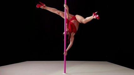 8of8 Girl dancing lap dance, beautiful woman doing pole dance