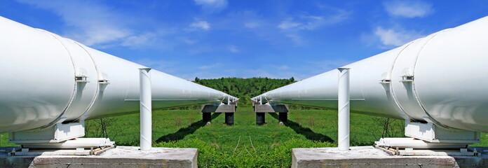 The high pressure pipeline.