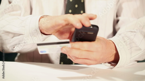 businessman with  smartphone. Online shopping