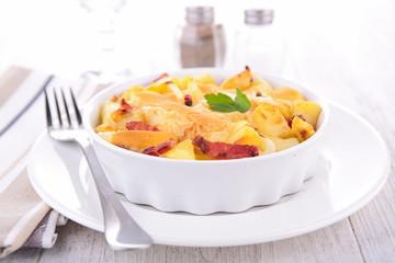 baked potato gratin, tartiflette