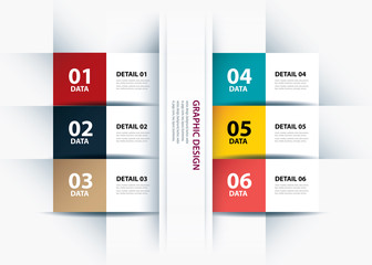 business data paper lines and numbers design template