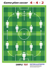 soccer playing field with strategy elements