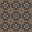 geometry vintage floral seamless pattern
