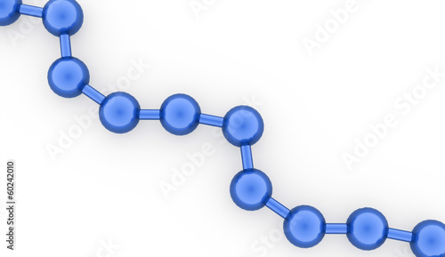 Blue molecule structure rendered on white