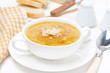 Cream soup of yellow lentils