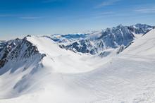 Descentes dans les Pyrénées d'hiver