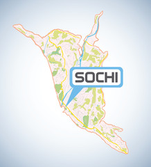 Sochi map high resolution