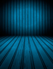 Blue Wooden Room Background