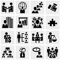 Human resources and management, and users vector icon