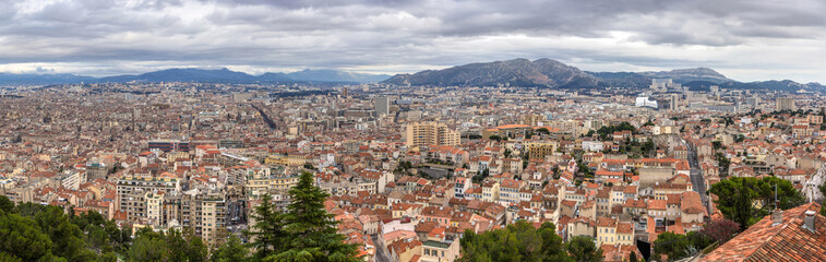 Panorama of Marseille from Notre-Dame de la Garde