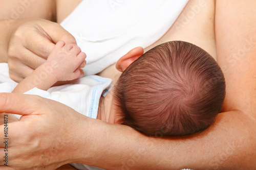 A baby being breastfed