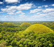 Chocolate hills on Bohol Island, Philippines