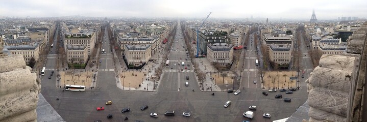 Panoramic view from Paris
