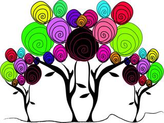 arbres de couleurs