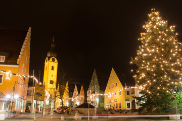Marketplace at Christmas time