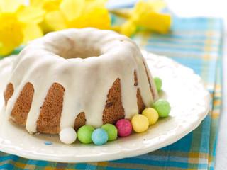 Easter glazed cake