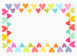Colorful heart border